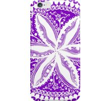 Hearts and Flowers 1 in White - An Aussie Tangle see description notes for background colour options iPhone Case/Skin