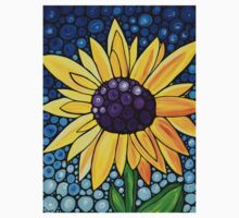 Basking In The Glory - Yellow Sunflower Blue Sky Art Print Kids Clothes