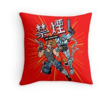 Escape from Delta City Throw Pillow