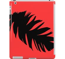 Feather in Black and Red  iPad Case/Skin