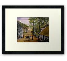 Old Irish Village Framed Print
