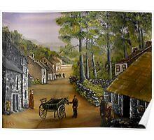 Old Irish Village Poster