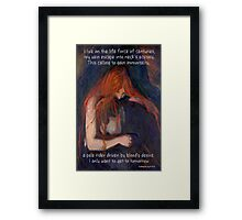 Be My Vampire Framed Print