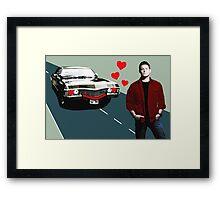 Baby Loves Dean  Framed Print