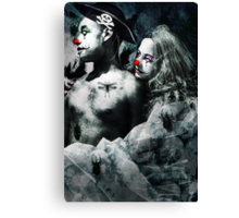 Clown Love Canvas Print