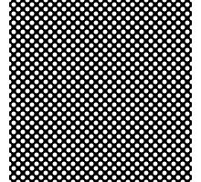 Cool big white polka dots in black. Graphic pattern. Photographic Print