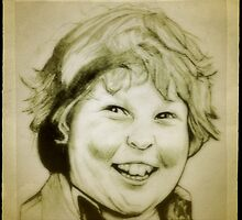 Jeff Cohen, Chunk, Goonies drawing by RobCrandall