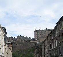 Edinburgh Castle from Cornwall Street by Yonmei