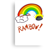 Rainbow Typo Canvas Print