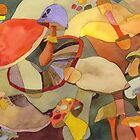 Colorful Mushrooms by Ujean1974