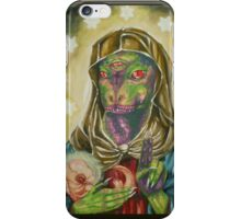 Blessed Reptilian Virgin and Child iPhone Case/Skin