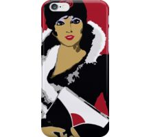 Flapper art: Femme Fatale C 1930 Premeditated Beauty #2 iPhone Case/Skin