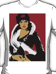 Flapper art: Femme Fatale C 1930 Premeditated Beauty #2 T-Shirt