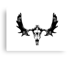 Moose Skull and Antlers Canvas Print