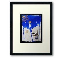 Descending blue Framed Print