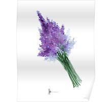 Lavender art print watercolor painting Poster