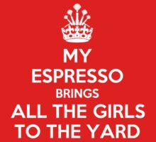 My espresso brings all the girls to the yard T-Shirt