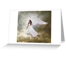 In the arms of the Angel Greeting Card