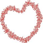 Heart from paper Valentines day card vector background by OlgaBerlet