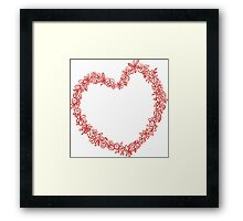Heart from paper Valentines day card vector background Framed Print