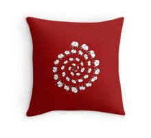Elephant Dance Throw Pillow