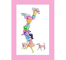 Gifts Girl Pink Photographic Print