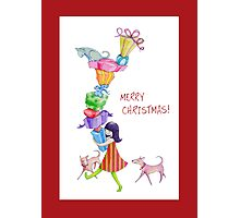Gifts Girl Christmas Photographic Print