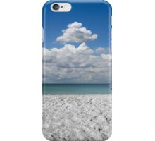 Chair on the beach iPhone Case/Skin