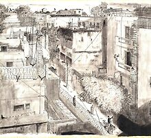 Delhi from a rooftop by Andy North