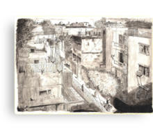 Delhi from a rooftop Canvas Print