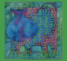 Patterned Hippo Kids Clothes