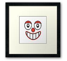 Happy Clown Cartoon Drawing Framed Print