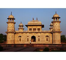 The Itmad-ud-Daula Tomb as the sun sets Photographic Print