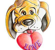 Puppy Love Valentine by Brian Heath