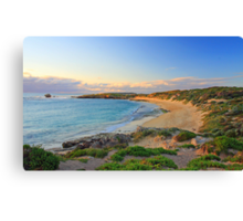 Sunset over the bay  Canvas Print