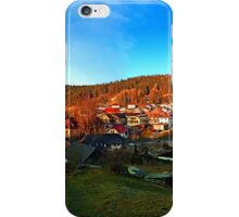 Village skyline in twilight | landscape photography iPhone Case/Skin