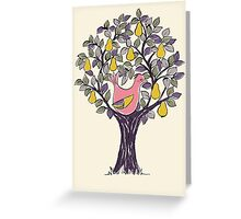 And a Partridge in a Pear Tree - Pink Greeting Card