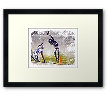 Odell Beckham Jr Catch Framed Print