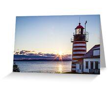 West Quoddy Lighthouse Maine Sunrise  Greeting Card