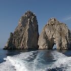 Rock arch off the Isle of Capri 1 by JohnT