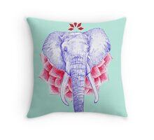 Zen Elephant Throw Pillow