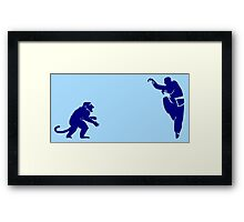 Monkey Kung Fu with Knife Framed Print