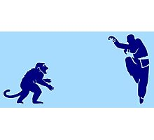 Monkey Kung Fu with Knife Photographic Print