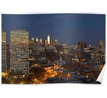 Philadelphia Downtown/Center City and Old City (Alan Copson © 2007) Poster