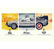 Back to the Future 1, 2, and 3 Photographic Print