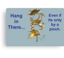 Hang in There... Canvas Print