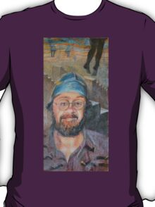Almost All The Girls Are Taller Than Me - Portrait In Crayon T-Shirt
