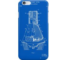 Space Capsule Patent - Blueprint iPhone Case/Skin