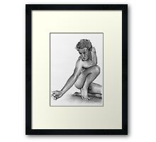 Live Model IV Framed Print