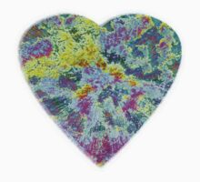 Color Burst Heart by Rebekah  McLeod